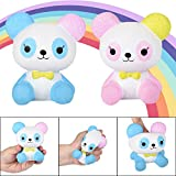 Livoty Squishy Toy Cute Galaxy Rainbow Alpaca Jumbo Sheep Stress Reliever Squeeze Toys Cream Scented Super Slow Rising Toy