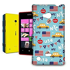 Phone Case For Nokia Lumia 720 - The Big Apple New York USA Glossy Cover