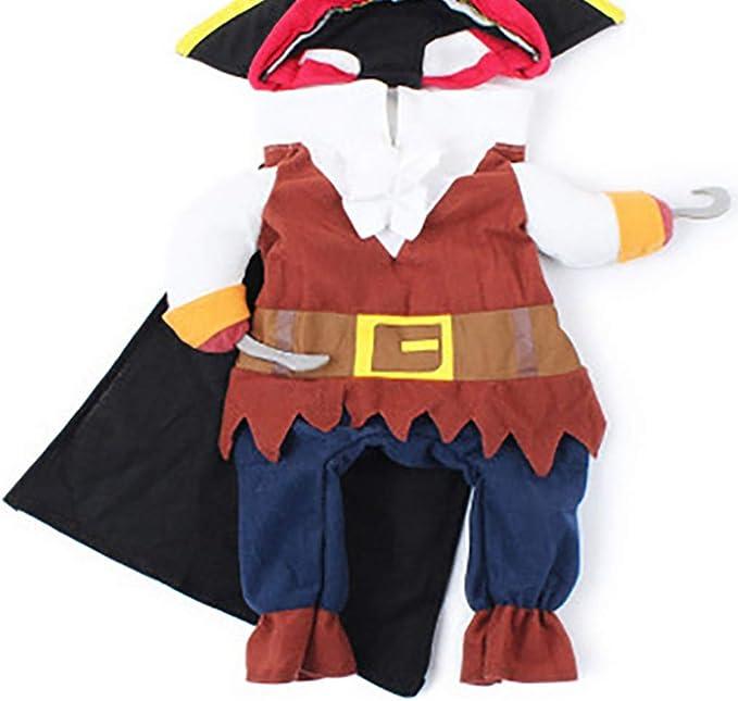 L-Peach Disfraz de Pirata Ropa Traje Uniforme para Mascotas Animal ...