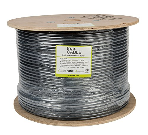 Cat6 OUTDOOR 1000FT FTP Shielded 23AWG Direct Burial Cable