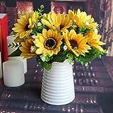 Calcifer-3-Sets7-StemsSet1063-Sunflowers-Artificial-Flowers-Bouquet-For-Home-DecorationWedding-Decor