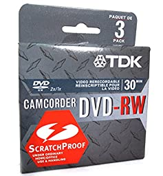 TDK 1.4GB DVD-RW Armor Plated, (3 pack) (Discontinued by Manufacturer)