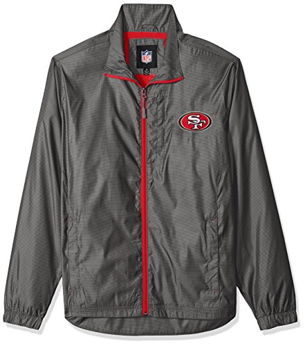 Full Licensed Zip Jacket (G-III Sports NFL San Francisco 49ers The Executive Full Zip Jacket, X-Large, Charcoal Gray)