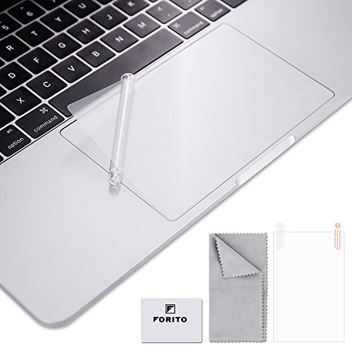 FORITO Clear Matte Trackpad Protector Compatible for 2017 or 2016 Released 13 Inch MacBook Pro Model A1706 & A1708 with or Without Touch Bar