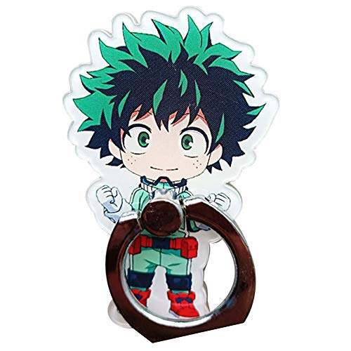 Raleighsee My Hero Academia Cartoon Q Version Acrylic Finger Ring Buckle Anime Peripheral Phone Bracket Anime Fans Gift( H01) ()