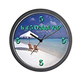 CafePress – 5 Oclock Yet? Lounging Wall Clock – Unique Decorative 10″ Wall Clock Review