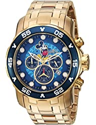Invicta Mens Disney Limited Edition Quartz and Stainless Steel Casual Watch, Color:Gold-Toned (Model: 23766)