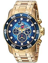 Invicta Men's 'Disney Limited Edition' Quartz and Stainless Steel Casual Watch, Color:Gold-Toned (Model: 23766)