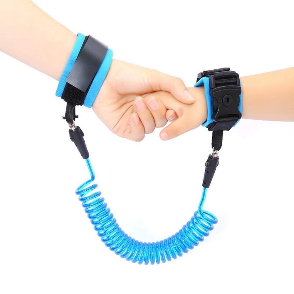 Children with Anti-Lost Traction Rope Adjustable Rotate Anti-Lost Bracelet (Color : Blue, Size : 2.5m)