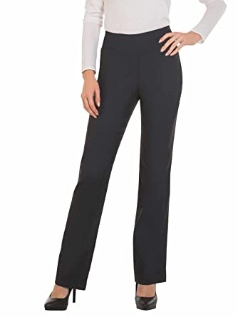 a4a9ff34e Red Hanger Bootcut Dress Pants for Women -Stretch Comfy Work Pull on Womens  Pant Indigo