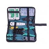 ihonour Network Cable Repair Maintenance Tool Kit Set Rj45 Rj11 Cat5e Cat6 Cable Tester Test Crimper Crimping Stripper Cutter Tool Kit