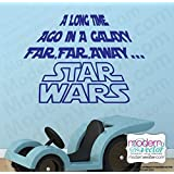 STAR WARS A Long Time Ago Vinyl Wall Decal stickers