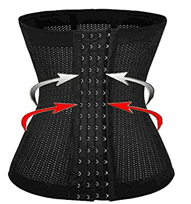 Waist Trainer Cincher with 6 Pcs Steel Boned for Quick Weight Loss Fat Burner