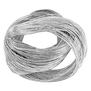 Multifuncional Hilo Metálico Para Joyas Empaquete Cuerda Tejida de Color Plata