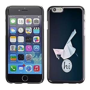 LECELL -- Funda protectora / Cubierta / Piel For Apple iPhone 6 -- HI Origami Bird --