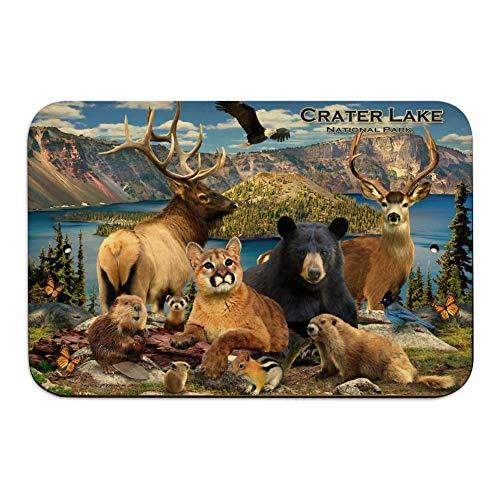 GRAPHICS & MORE Crater Lake National Park Oregon Animals Elk Deer Beaver Cougar Home Business Office Sign - Wood - 6