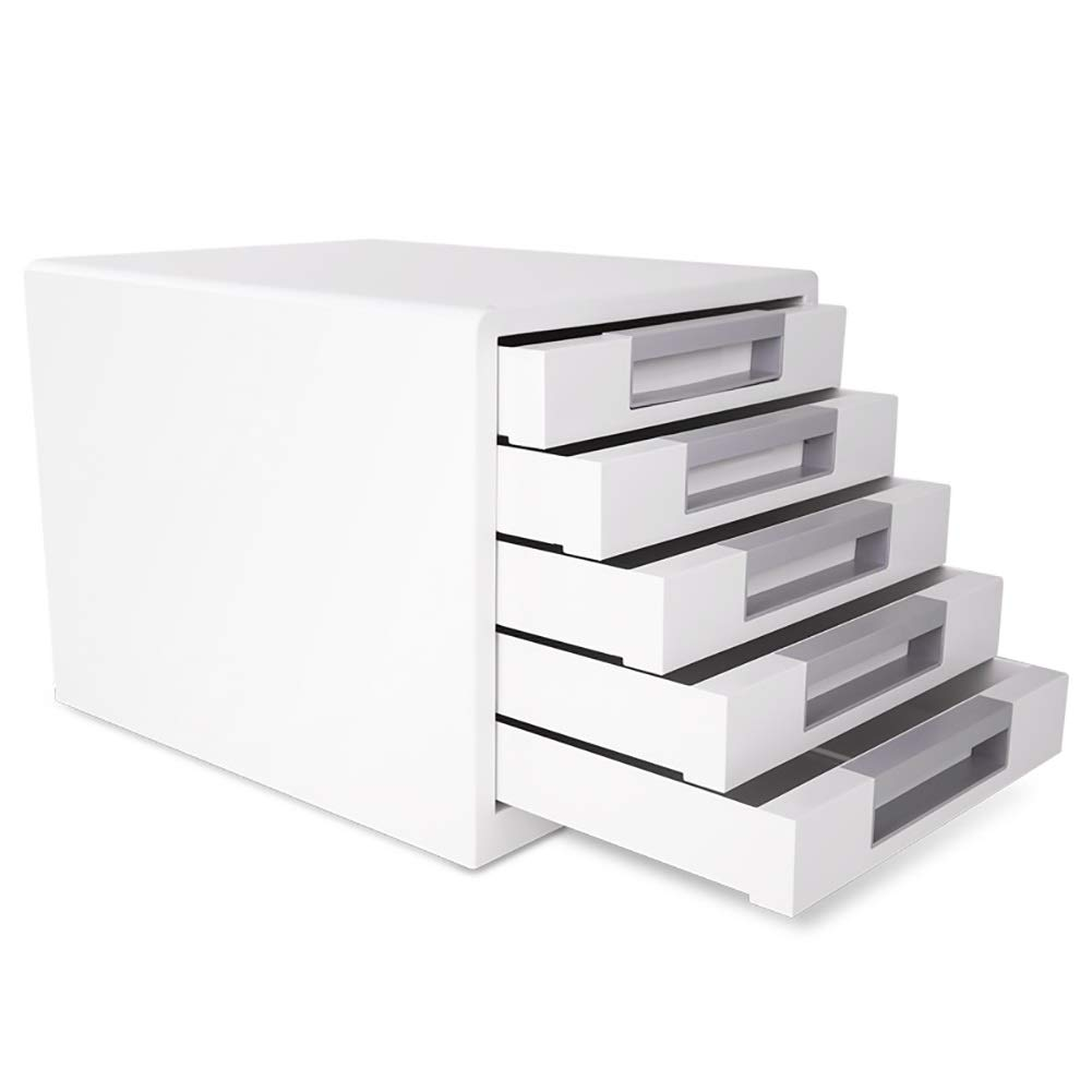 RRH-File Cabinet, Desktop Five-Layer Storage File Cabinet, 5-Layer Drawer Type A4 File Storage Box for Office Use by RRH