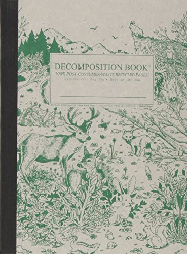 Recycled Notebook - Spirit Animal Decomposition Book: College-ruled Composition Notebook With 100% Post-consumer-waste Recycled Pages