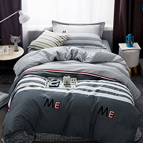 TheFit Paisley Bedding for Boy and Girl W1240 Loft on Bed Duvet Cover Set 100% Cotton, Twin Set, 3 Pieces