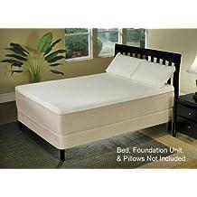 """14"""" Cassandra Visco-Elastic Memory Foam and Natural Latex Adjustable Bed Mattress, Queen"""