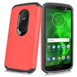 """For Motorola MOTO E5 PLAY, MOTO E5 CRUISE 5.2"""" 2018 Release (XT1921) Heavy Duty Defender Shock Proof & Impact Resistant Dual Layer Hybrid Smooth Case (Red) -  customerfirst"""