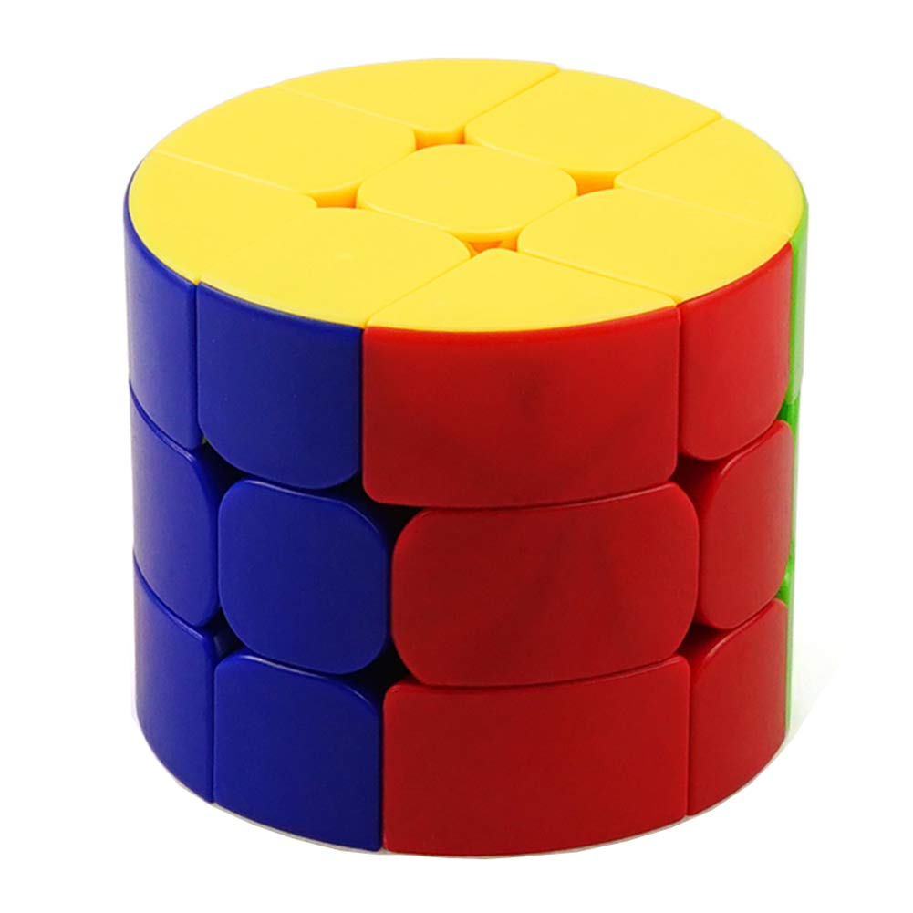 JIAAE 3X3 Cylinder Rubik's Cube Children Puzzle Allotype Pillar Rubik Colorful No Fading Toy