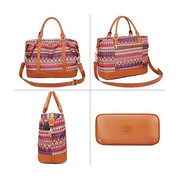Borsone da viaggio weekend Borsa da palestra handbag Tote da borsa sportiva con porta USB Borsa tote per laptop comoda… 7 spesavip