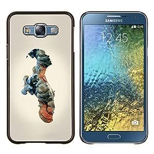 LECELL--Funda protectora / Cubierta / Piel For Samsung Galaxy E7 E700 -- Nubes Significado Hombre Humanos --