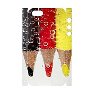 3D Bumper Plastic Customized Case Of Art Pencil for iPhone 5,5S hjbrhga1544