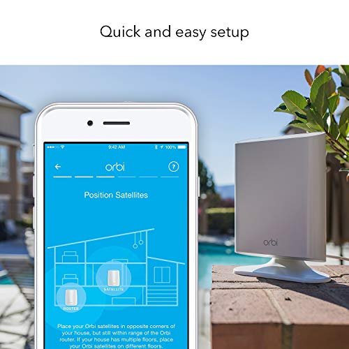 NETGEAR Orbi Ultra-Outdoor Whole Home Mesh Wifi Satellite Extender - Works  with Your Orbi Router to Add 2, 500 Sq  Feet At Speeds up to 3 Gbps, AC3000