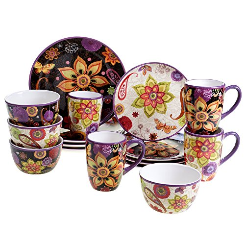 Certified International Dishes (Certified International Corp 89079 Coloratura Dinnerware Set, Multicolor)