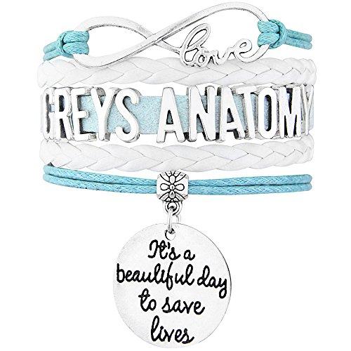 Greys Anatomy Tv Show (Grey's Anatomy Bracelet Adjustable Five Layer Wrap)