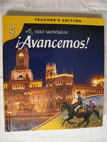 Avancemos Teacher S Edition Level 2 2010 Holt Mcdougal 9780547255385 Amazon Com Books