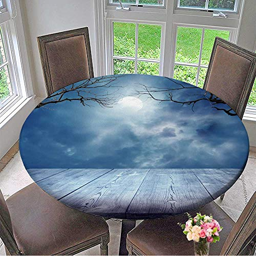 Mikihome The Round Table Cloth Halloween Background for Birthday Party, Graduation Party 63