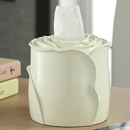 Amazon Com Lpy Tissue Box Roll Paper Rose Style Resin