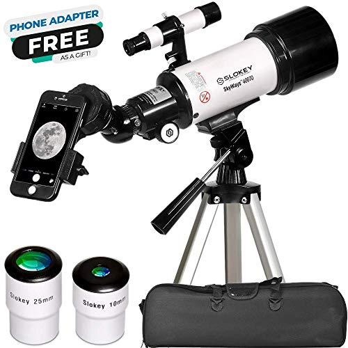 Telescopio Astronómico Portátil y Potente 16x-120x, Fácil de Montar y Usar, Ideal para Niños y Adultos Principiantes…