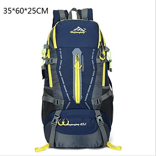 LQABW Moda Deportes 45L Litros Profesional Alpinismo Impermeable Y Transpirable Hombro Al Aire Libre De Los Hombres Y De Las Mujeres Bolsa Mochila,Orange Blue