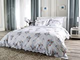 Country Garden Flat Sheets, Blues/Pinks/Greens (King, each)