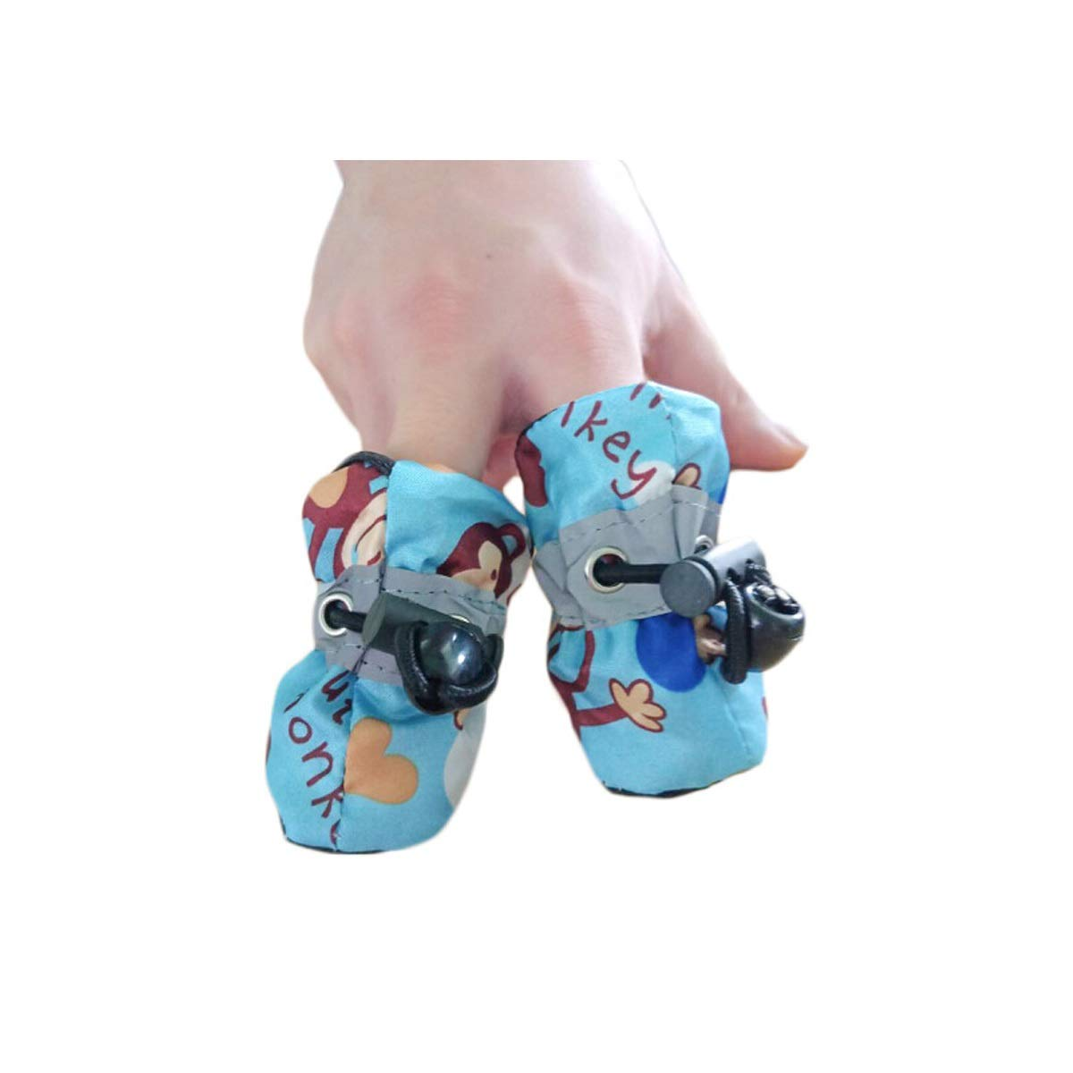 Dog shoes, Small shoes Worn by Dogs, Autumn and Winter, Dog shoes Can Not Be Lost, Teddy shoes, A Set of 4, Puppies, Small Dogs, Cats, Bears, Pet Soft Feet, Soft shoes, Red (color   Red, Size   2 )