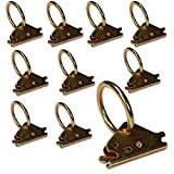 10-Pack Steel E-Track O Ring Tie-Down Anchors w/E Track Spring Fitting Attachments, Tie Down Cargo Loads to ETrack TieDown System Rails in Enclosed/Flatbed Trailer, Truck, Van, Pickup, DC Cargo Mall