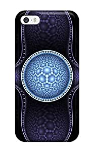 Durable Case For The Iphone 5/5s- Eco-friendly Retail Packaging(fractal Circles)