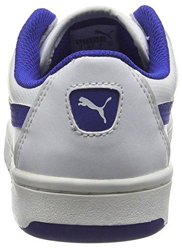 Puma Puma Rebound v2 Lo Jr - zapatillas deportivas altas de material sintético Niños^Niñas blanco - Weiß (white-surf the web 08)