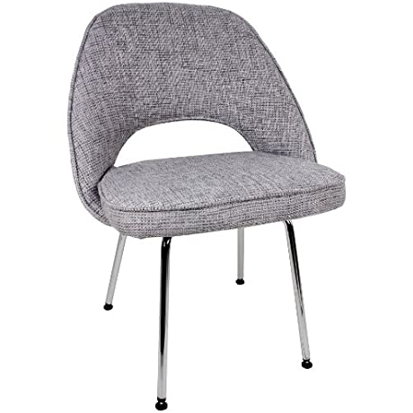Control Brand Mid Century Inspired Side Chair Grey