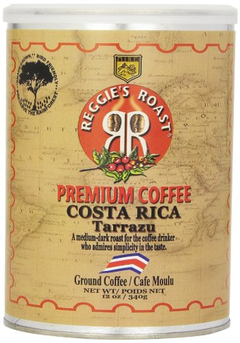 Reggies Roast - Reggie's Roast Costa Rica Tarrazu Ground Coffee, 12-Ounce Cans (Pack of 4)