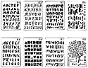 Shuxy 8 PCS 文字と数字 弾丸ジャーナルステンシル ペーパープランナーセット DIY図面テンプレート ジャーナルステンシル ノートブック日記スクラップブック 26x17.5cm / 10x7in