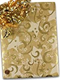 Gold Stars & Swirls Gift Wrapping Paper 24'' X 100' Christmas