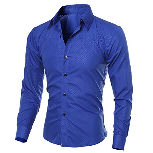 (Simayixx Shirts for Men Plus Size, Classic Tops Military Slim Fit Dress Shirt Casual Pullover Business Button Down Blouse Tee)