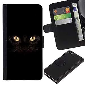 All Phone Most Case / Oferta Especial Cáscara Funda de cuero Monedero Cubierta de proteccion Caso / Wallet Case for Apple Iphone 6 // Black Cat Siamese Panther House Pet