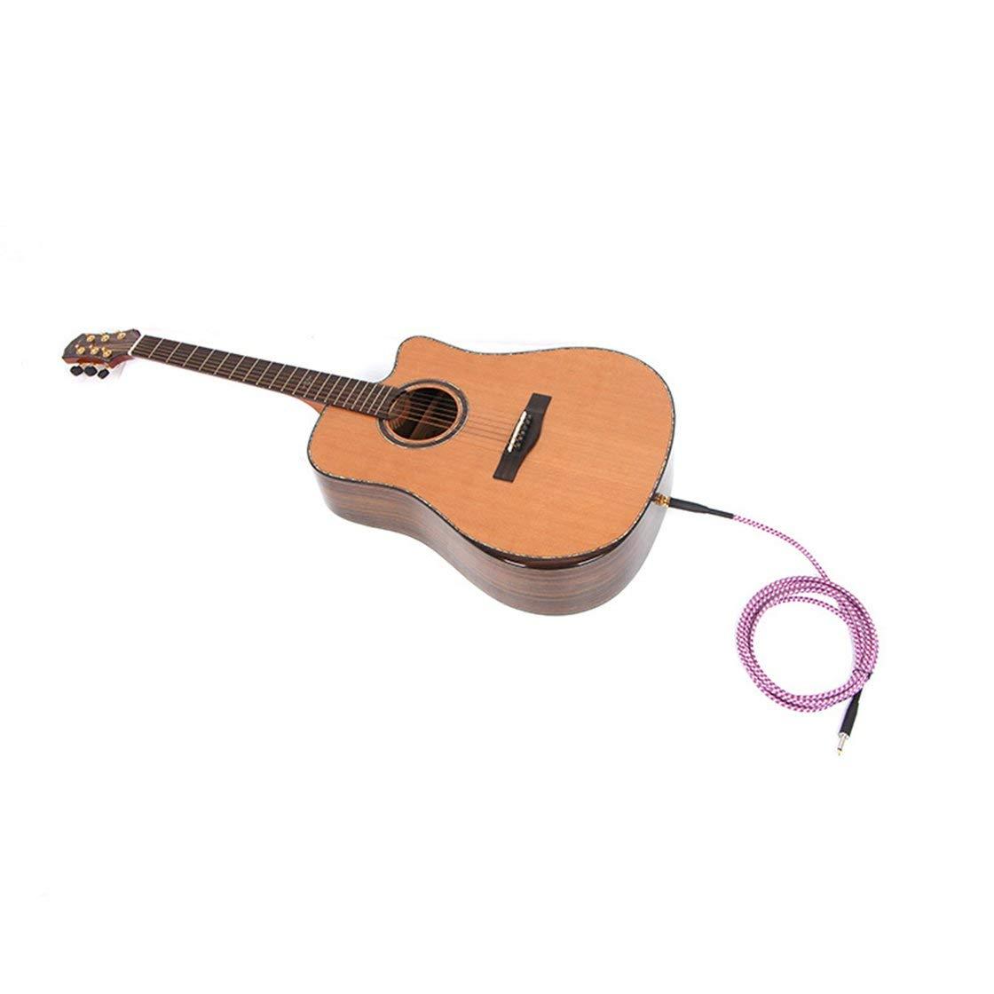 Cable de Guitarra eléctrica Cable de Audio Dos Recta Toma de Ruido del Altavoz de conexión de Pantalla de frecuencia de reducción Vida Solitaria: Amazon.es: ...