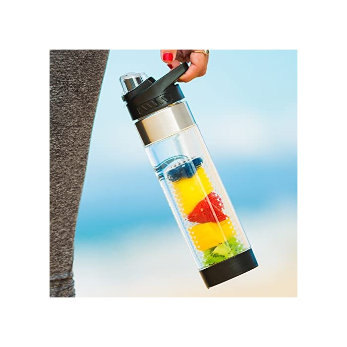 e5a7a0cd21 Infusion Pro Premium Fruit Infused Water Bottle (2 Pack or 1 Pack ...